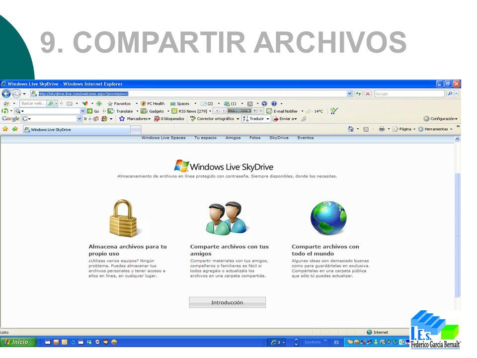 9. COMPARTIR ARCHIVOS