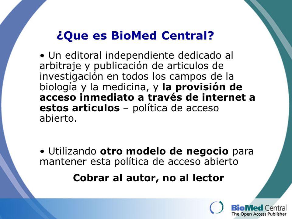 ¡Confie en BioMed Central.