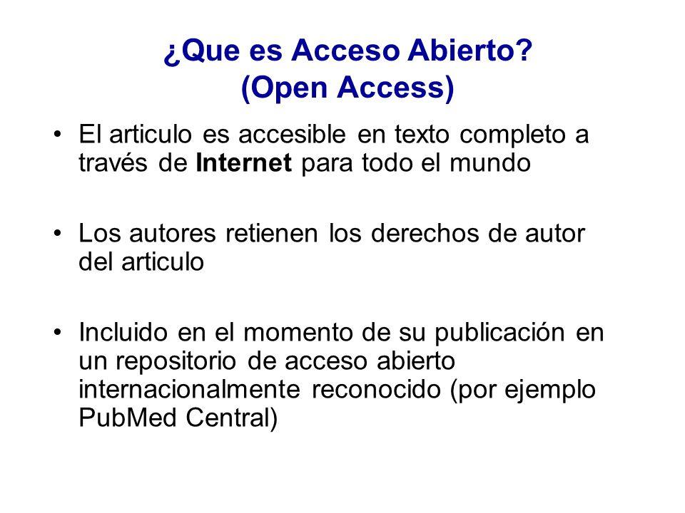 Acuerdos internacionales El acuerdo de Bethesda sobre Open Access Declaración de Budapest Op-ECHO Charter El Acuerdo de Berlin