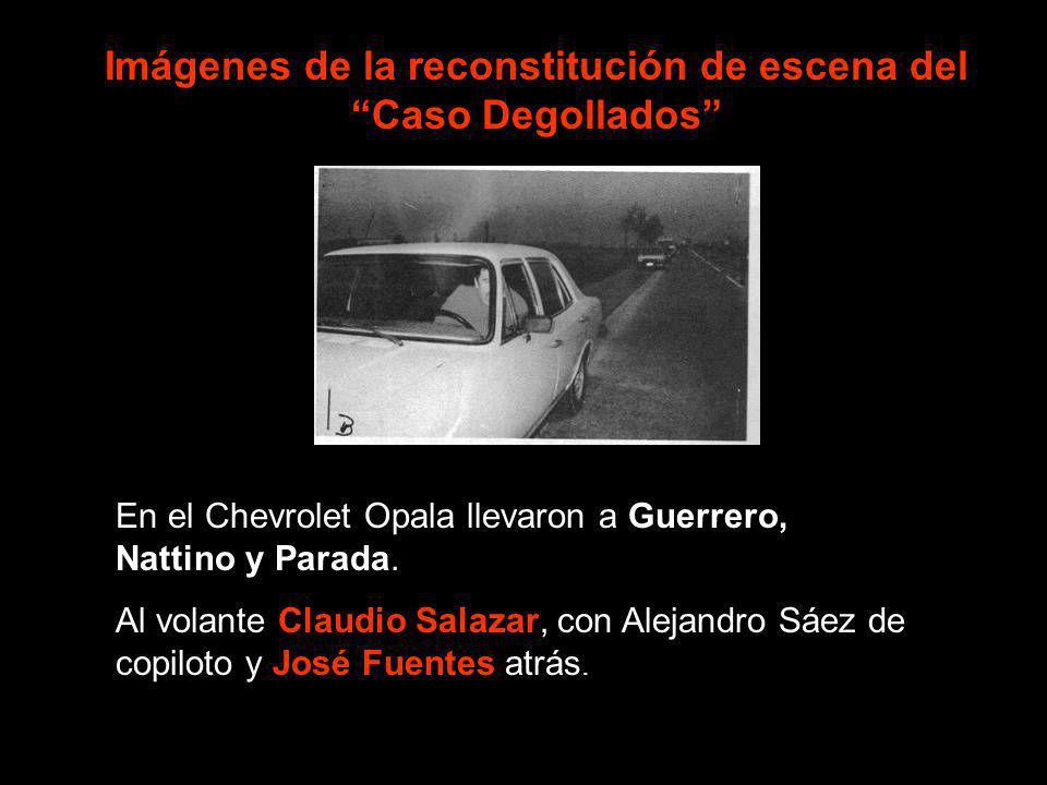 En el Chevrolet Opala llevaron a Guerrero, Nattino y Parada. Al volante Claudio Salazar, con Alejandro Sáez de copiloto y José Fuentes atrás. Imágenes