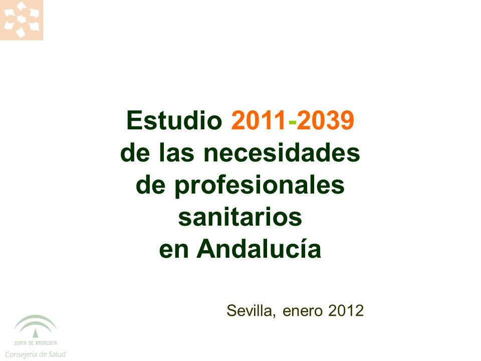 OBJETIVOS GENERALES Analizar la situación y perspectivas futuras de la necesidad de profesionales de la medicina y de enfermería en Andalucía Análisis de la situación del conjunto de profesionales de medicina y de enfermería vinculados a la labor asistencial en el Sistema Sanitario Público de Andalucía (SSPA)