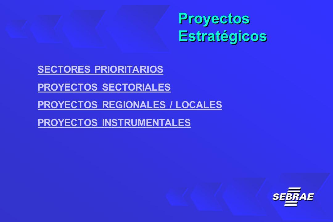 Proyectos Estratégicos Proyectos Estratégicos SECTORES PRIORITARIOS PROYECTOS SECTORIALES PROYECTOS REGIONALES / LOCALES PROYECTOS INSTRUMENTALES