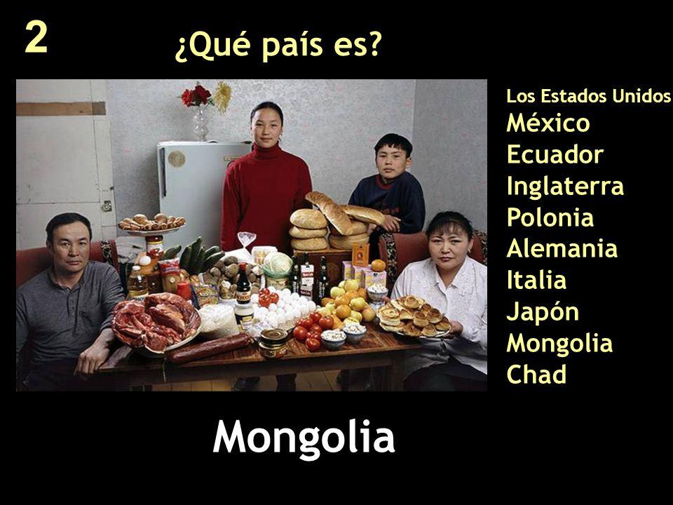 ¿Qué país es? Los Estados Unidos México Ecuador Inglaterra Polonia Alemania Italia Japón Mongolia Chad Mongolia 2