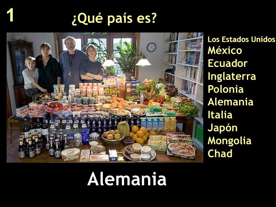 ¿Qué país es? Los Estados Unidos México Ecuador Inglaterra Polonia Alemania Italia Japón Mongolia Chad Alemania 1