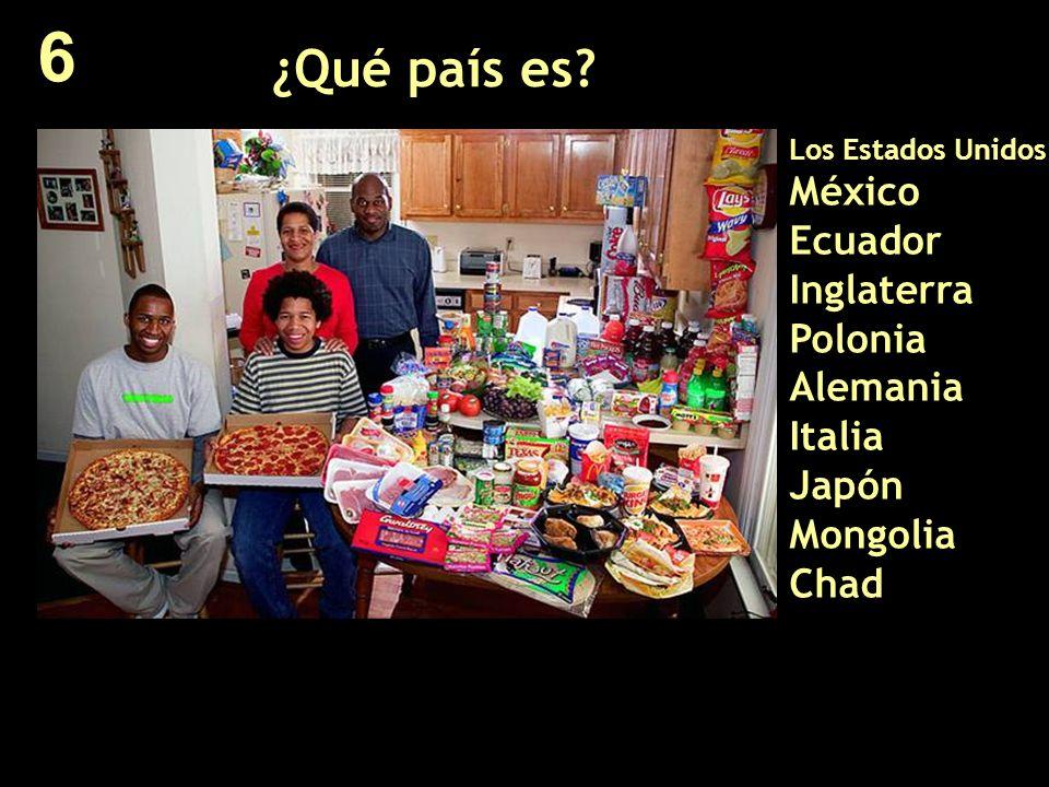 ¿Qué país es? Los Estados Unidos México Ecuador Inglaterra Polonia Alemania Italia Japón Mongolia Chad 6