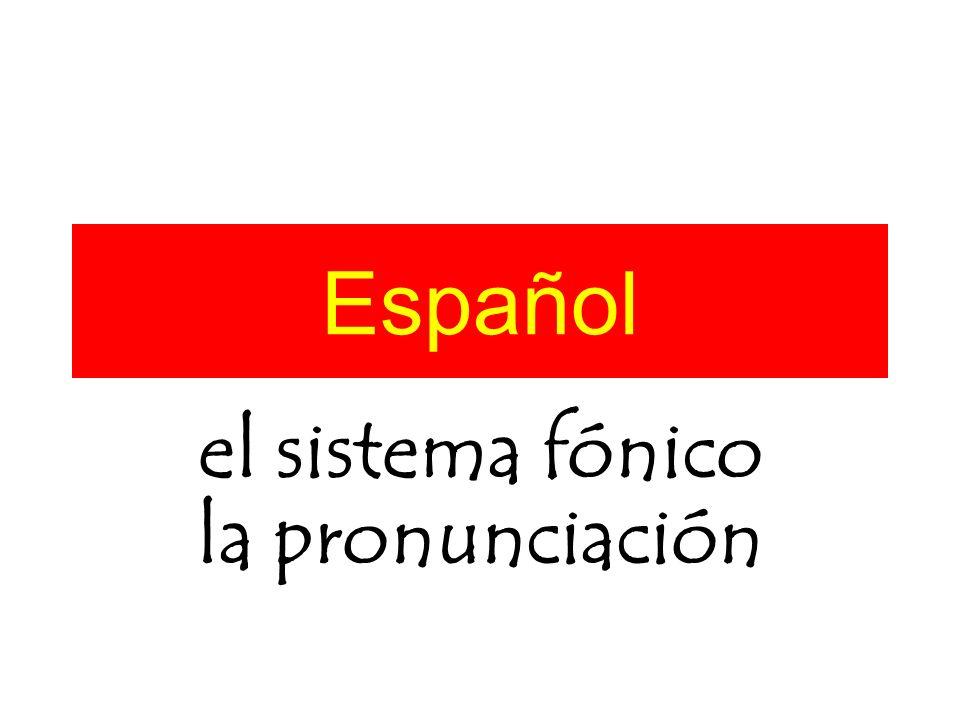 Español el sistema fónico la pronunciación