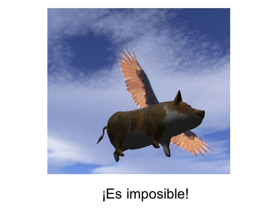 ¡Es imposible!