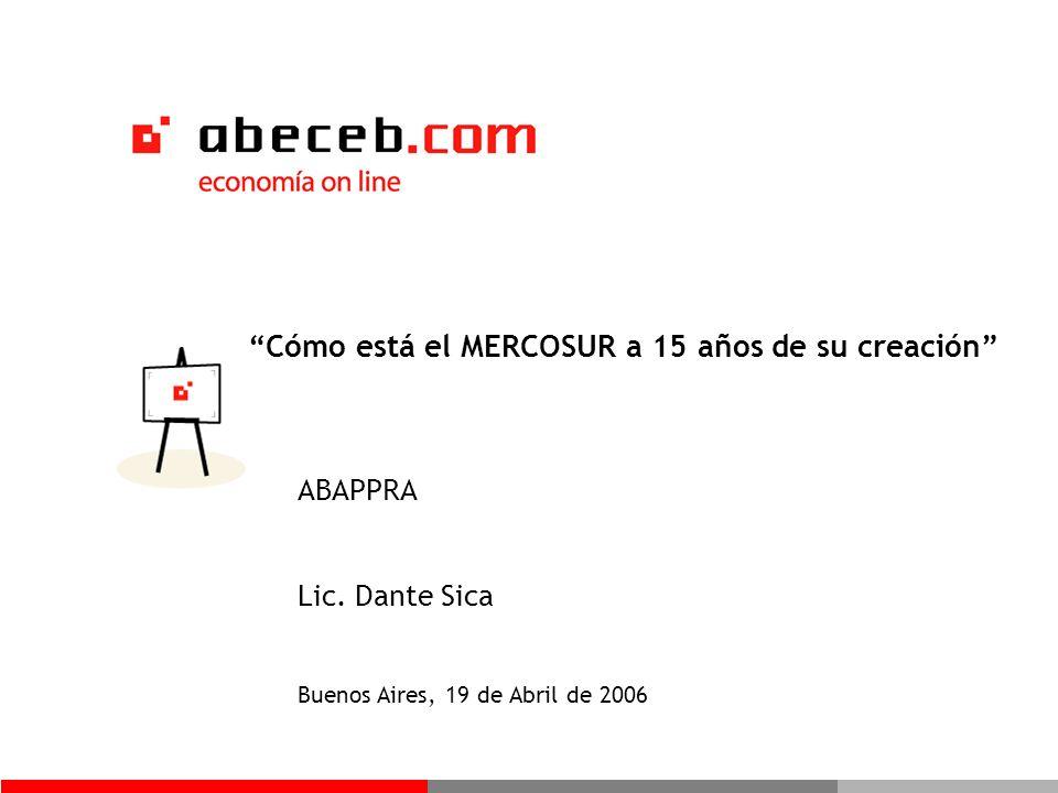 Cómo está el MERCOSUR a 15 años de su creación ABAPPRA Lic.