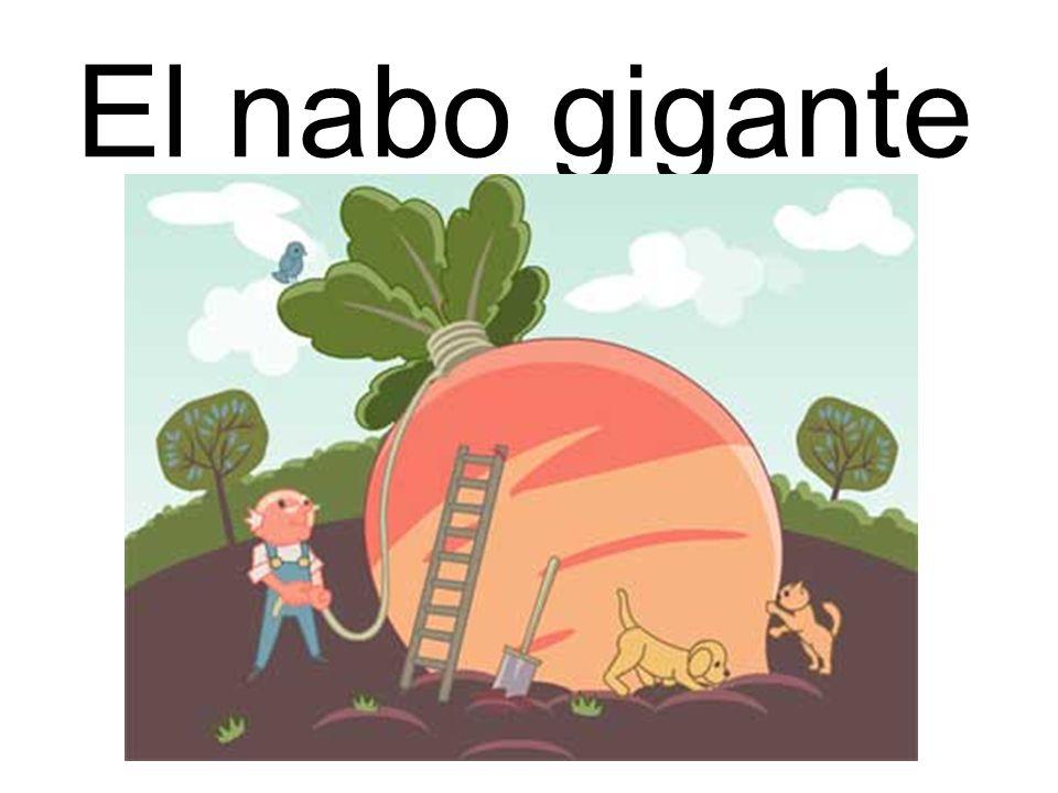 La historia del nabo gigante Aquí está el Señor Ortega.