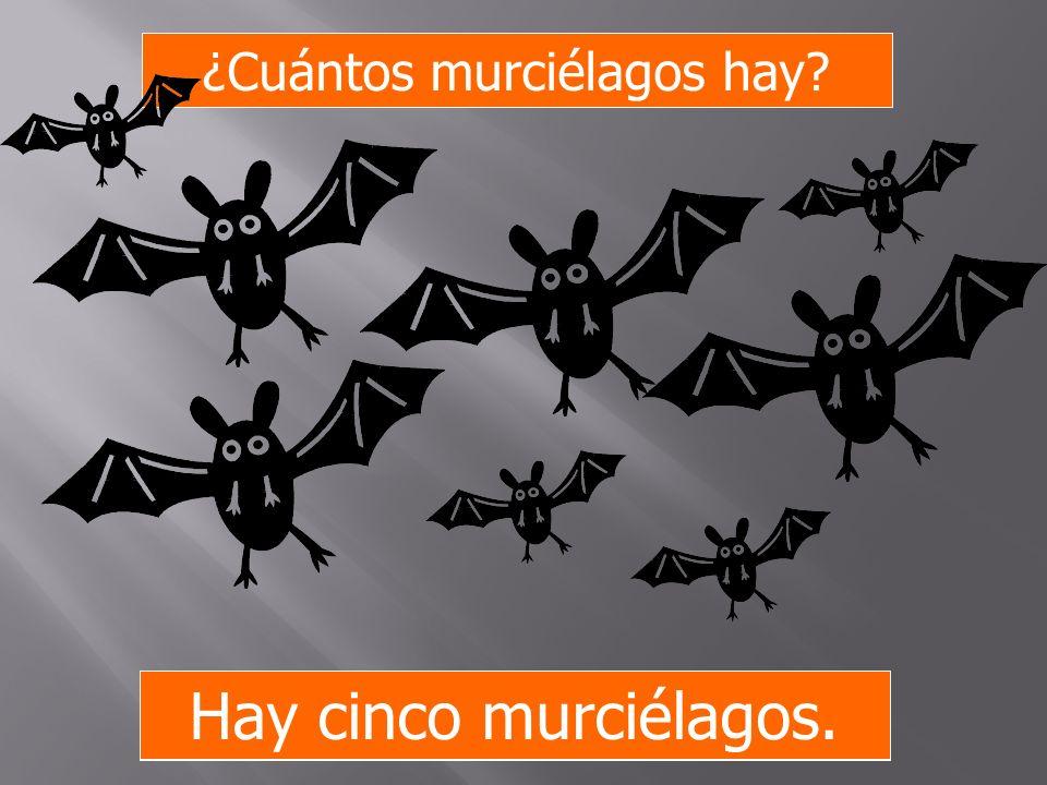 ¿Cuántos murciélagos hay? Hay ocho murciélagos. Hay cinco murciélagos.