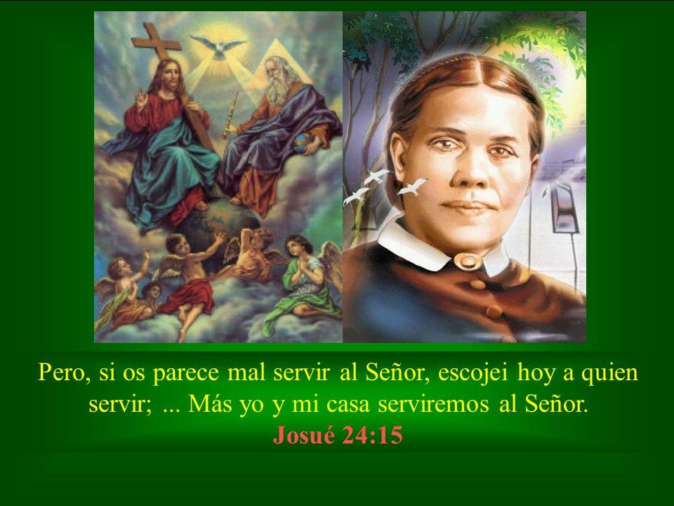 Pero, si os parece mal servir al Señor, escojei hoy a quien servir;... Más yo y mi casa serviremos al Señor. Josué 24:15