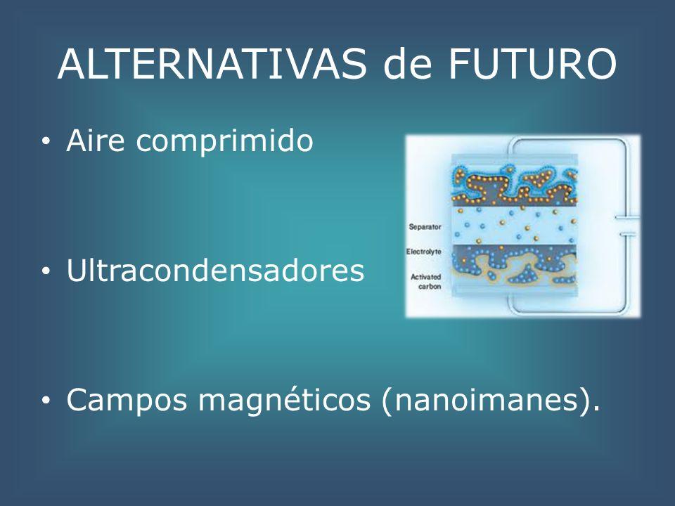 ALTERNATIVAS de FUTURO Aire comprimido Ultracondensadores Campos magnéticos (nanoimanes).