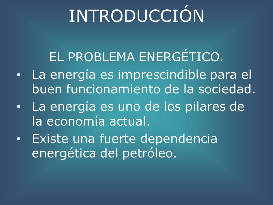 INTRODUCCIÓN EL PROBLEMA ENERGÉTICO. La energía es imprescindible para el buen funcionamiento de la sociedad. La energía es uno de los pilares de la e