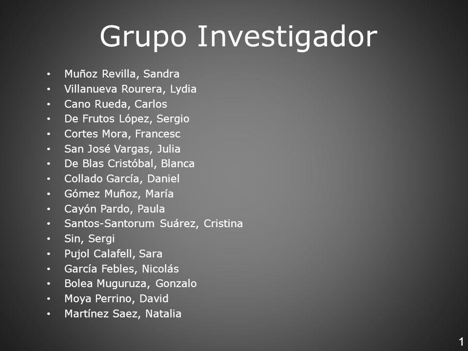1 Muñoz Revilla, Sandra Villanueva Rourera, Lydia Cano Rueda, Carlos De Frutos López, Sergio Cortes Mora, Francesc San José Vargas, Julia De Blas Cris