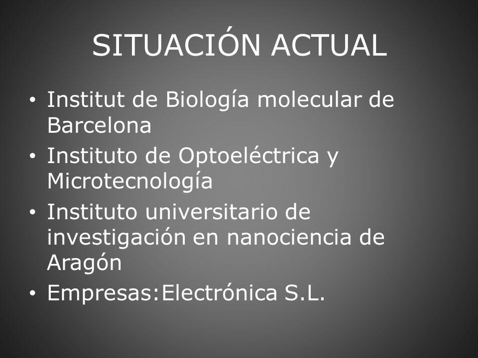 Institut de Biología molecular de Barcelona Instituto de Optoeléctrica y Microtecnología Instituto universitario de investigación en nanociencia de Ar