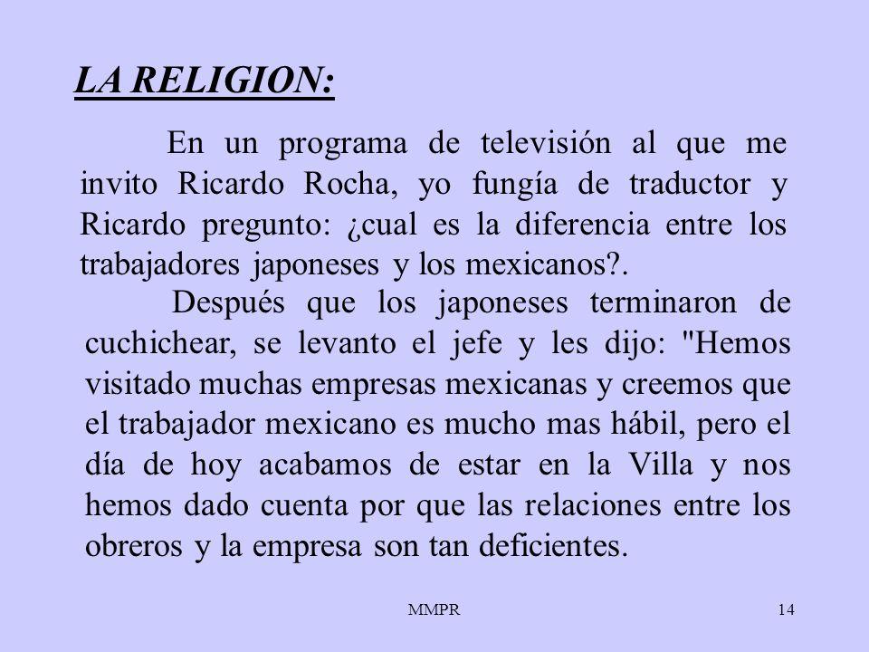 MMPR14 LA RELIGION: Después que los japoneses terminaron de cuchichear, se levanto el jefe y les dijo: