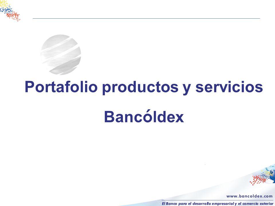 Portafolio productos y servicios Banc ó ldex