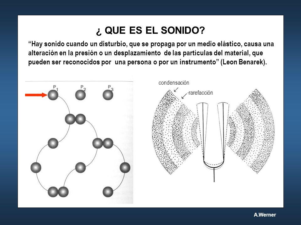 ¿ QUE ES EL SONIDO? Hay sonido cuando un disturbio, que se propaga por un medio elástico, causa una alteración en la presión o un desplazamiento de la