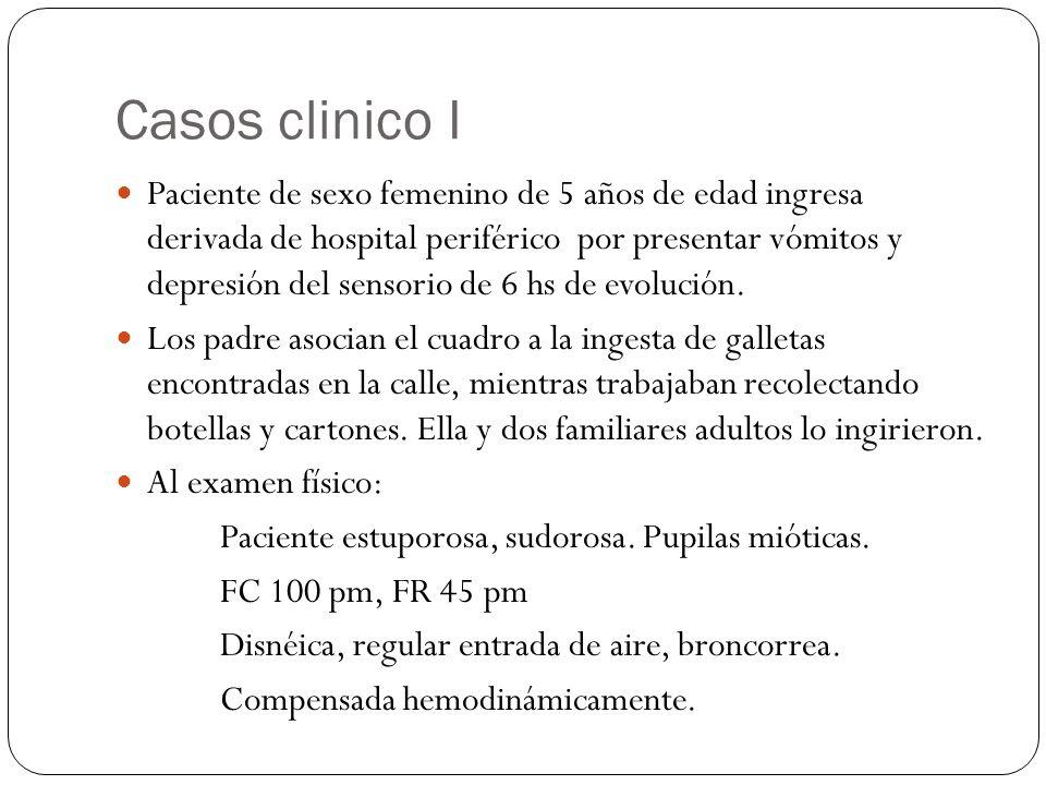 Casos clinico I Paciente de sexo femenino de 5 años de edad ingresa derivada de hospital periférico por presentar vómitos y depresión del sensorio de