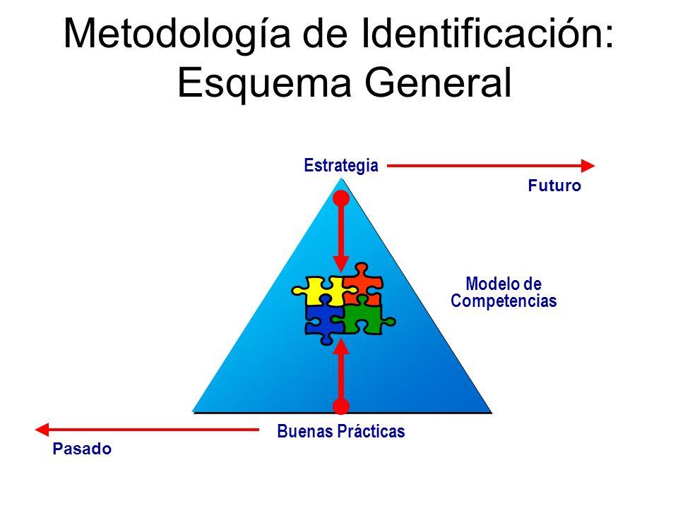 Estrategia Buenas Prácticas Modelo de Competencias PasadoFuturo Metodología de Identificación: Esquema General