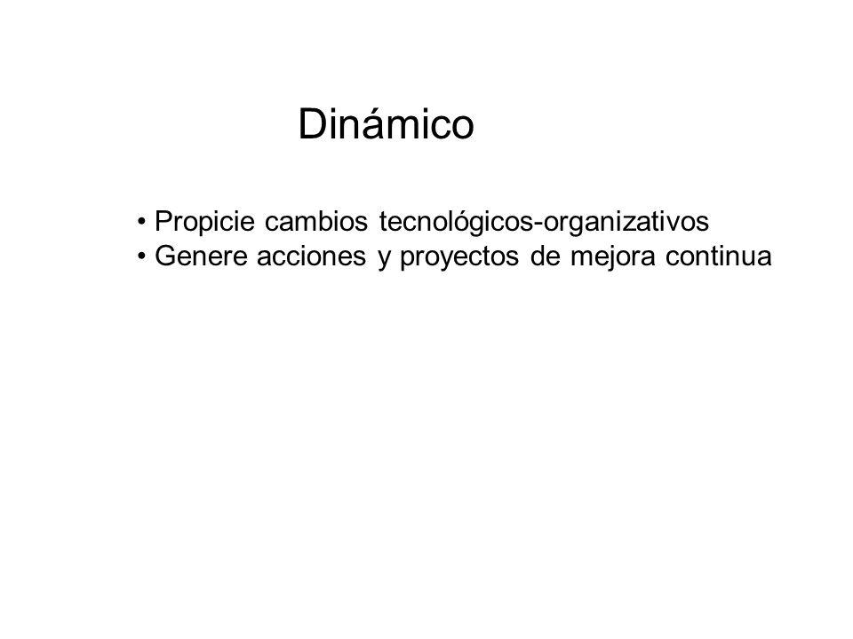 Dinámico Propicie cambios tecnológicos-organizativos Genere acciones y proyectos de mejora continua