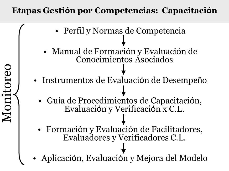 Perfil y Normas de Competencia Manual de Formaci ó n y Evaluaci ó n de Conocimientos Asociados Instrumentos de Evaluaci ó n de Desempe ñ o Gu í a de P