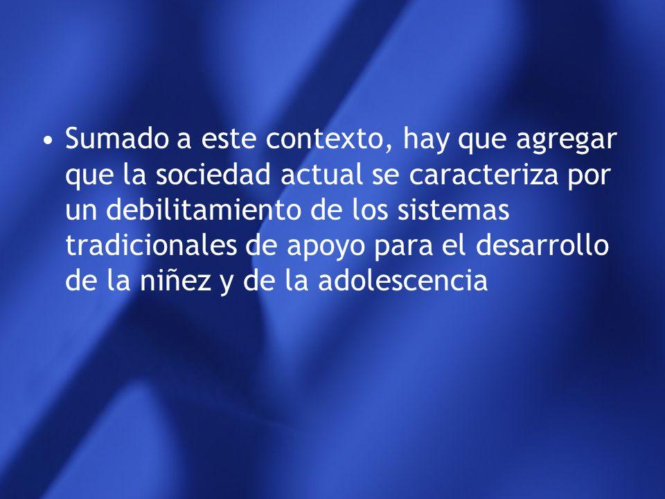 La delincuencia juvenil se ubica, por lo menos en América Latina, dentro de un contexto social caracterizado por grupos de niños y adolescentes ubicad