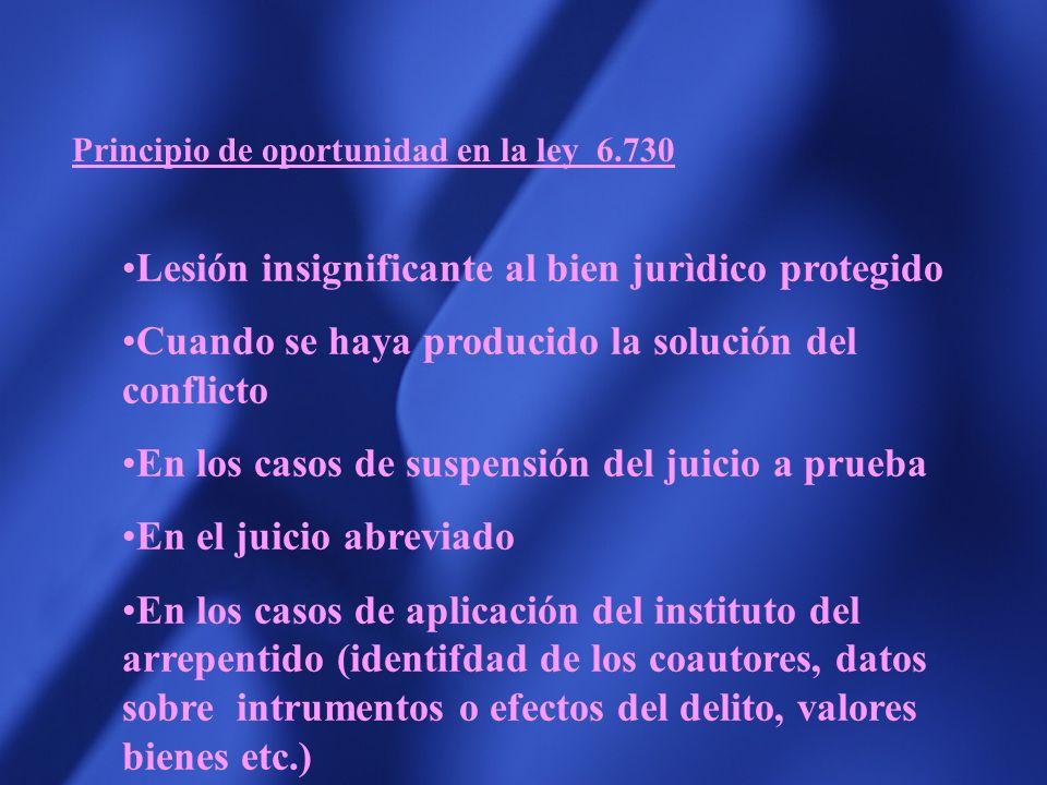 Art. 150 : En los casos en los que la ley penal permita la aplicación de criterios de oportunidad, para evitar la promoción de la persecución penal o