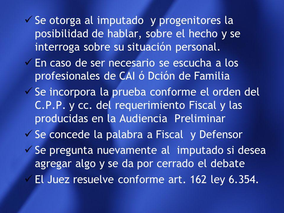 Desarrollo en la práctica y reglas del Juicio común que se aplican El Fiscal expone sucintamente las conclusiones de la investigación preliminar en la