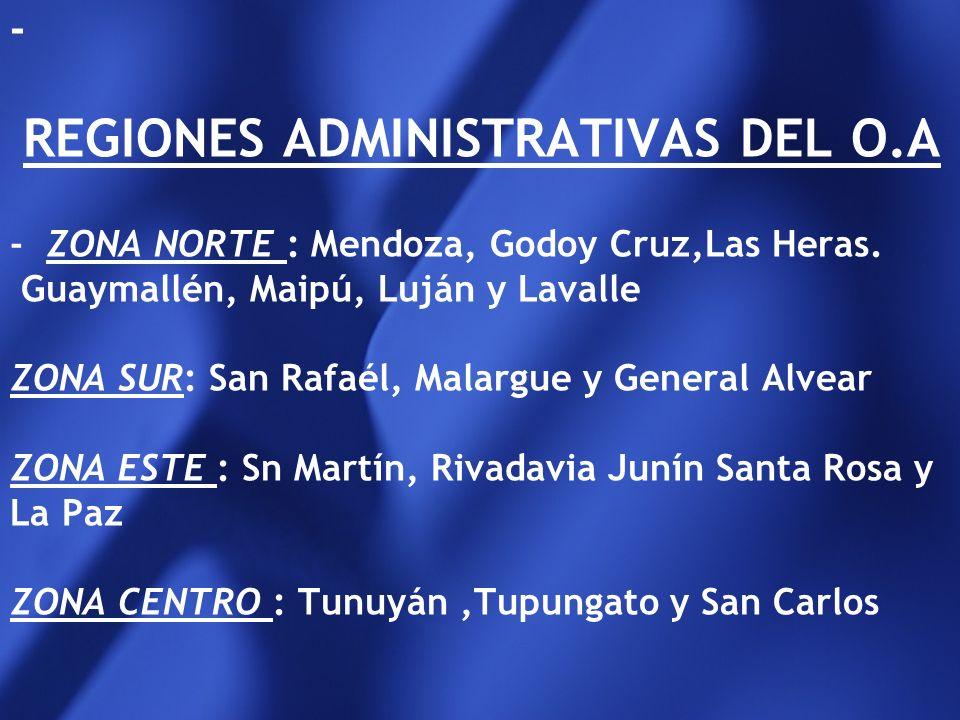 El órgano administrativo(O.A.) local de aplicación de la ley 26061, en la provincia de Mendoza será la DI.N.A.F. en el ámbito de la Sub Sec. De Fam. D