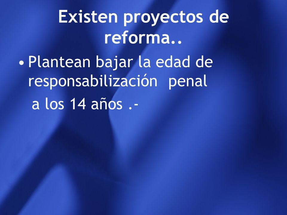 Reforma 21.338/76 inimputables hasta los 14 años Plenamente responsable a los 16 años De 14 a 16 imputabilidad relativa de acuerdo a la gravedad del h