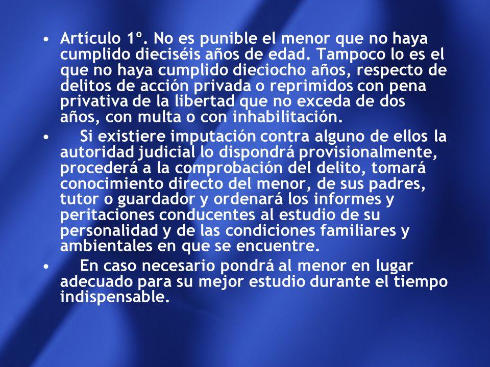Ley 22.803/83 Eleva la edad de imputabilidad a los 16 años.- La imputabilidad es la capacidad humana de actuar culpablemente dentro de los cánones de
