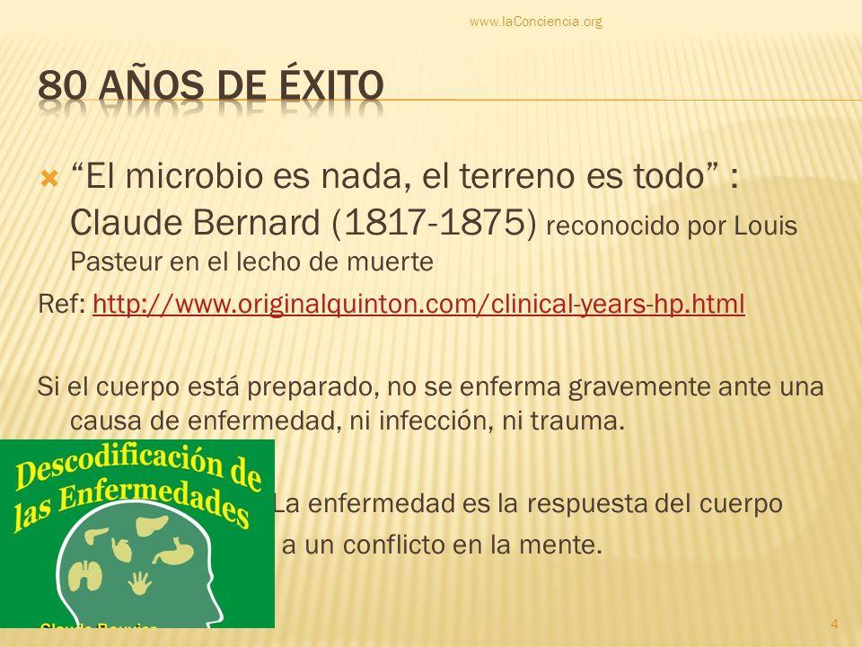 El microbio es nada, el terreno es todo : Claude Bernard (1817-1875) reconocido por Louis Pasteur en el lecho de muerte Ref: http://www.originalquinto