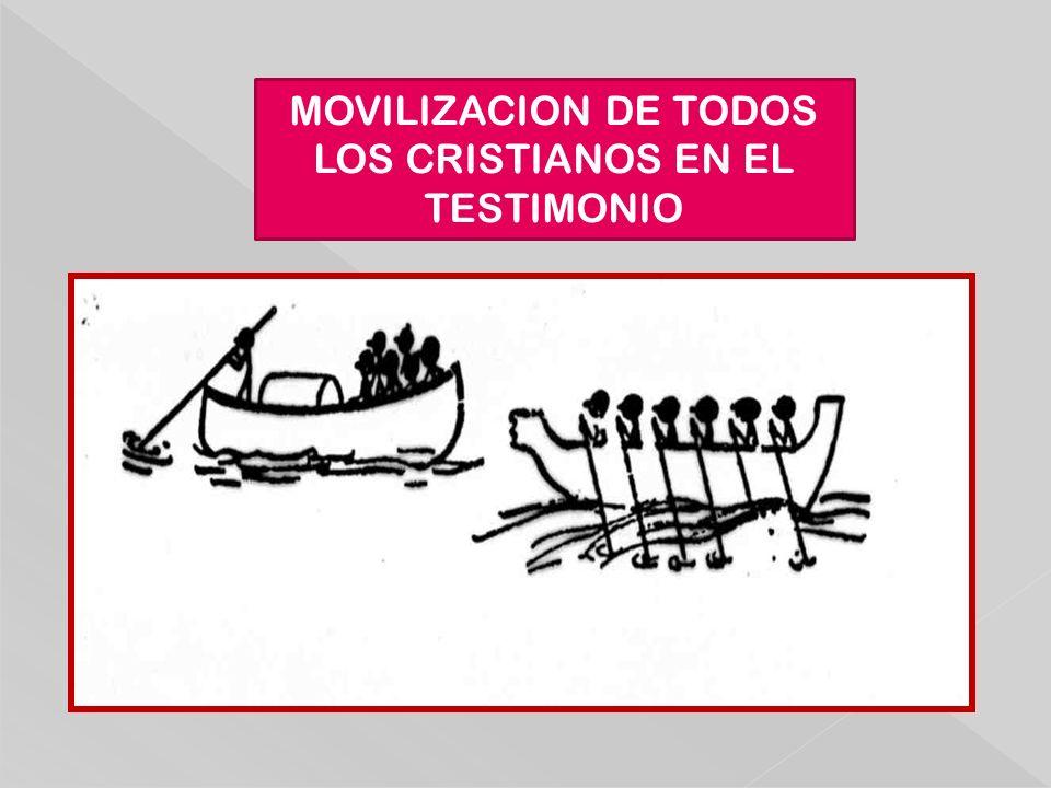 MOVILIZACION DE TODOS LOS CRISTIANOS EN EL TESTIMONIO