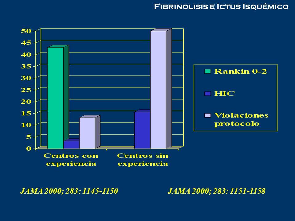 Fibrinolisis e Ictus Isquémico JAMA 2000; 283: 1145-1150JAMA 2000; 283: 1151-1158