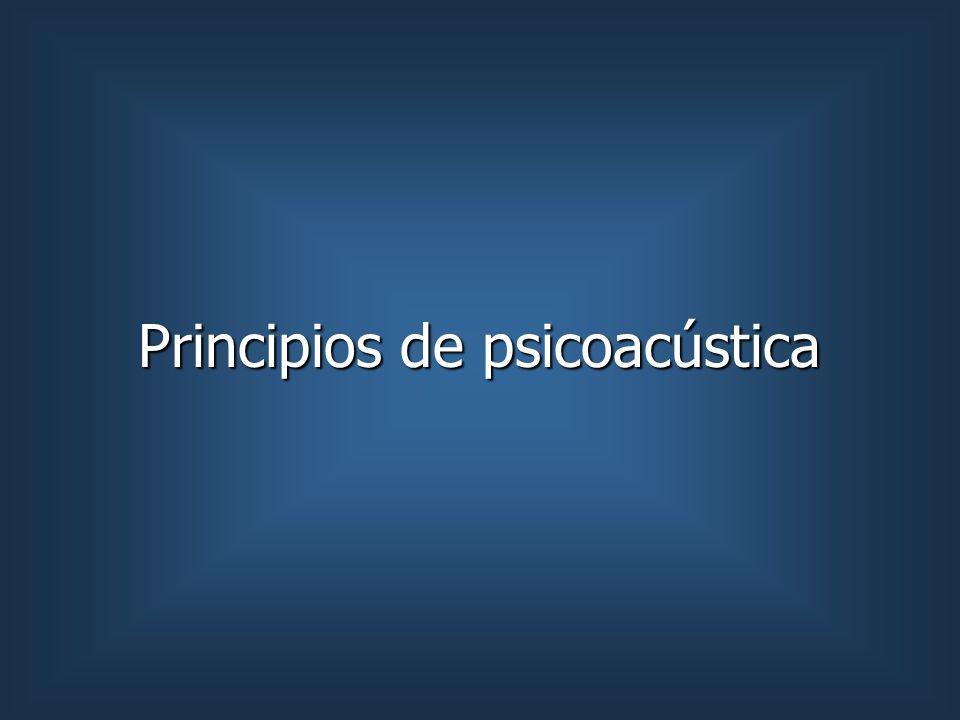 Principios de psicoacústica