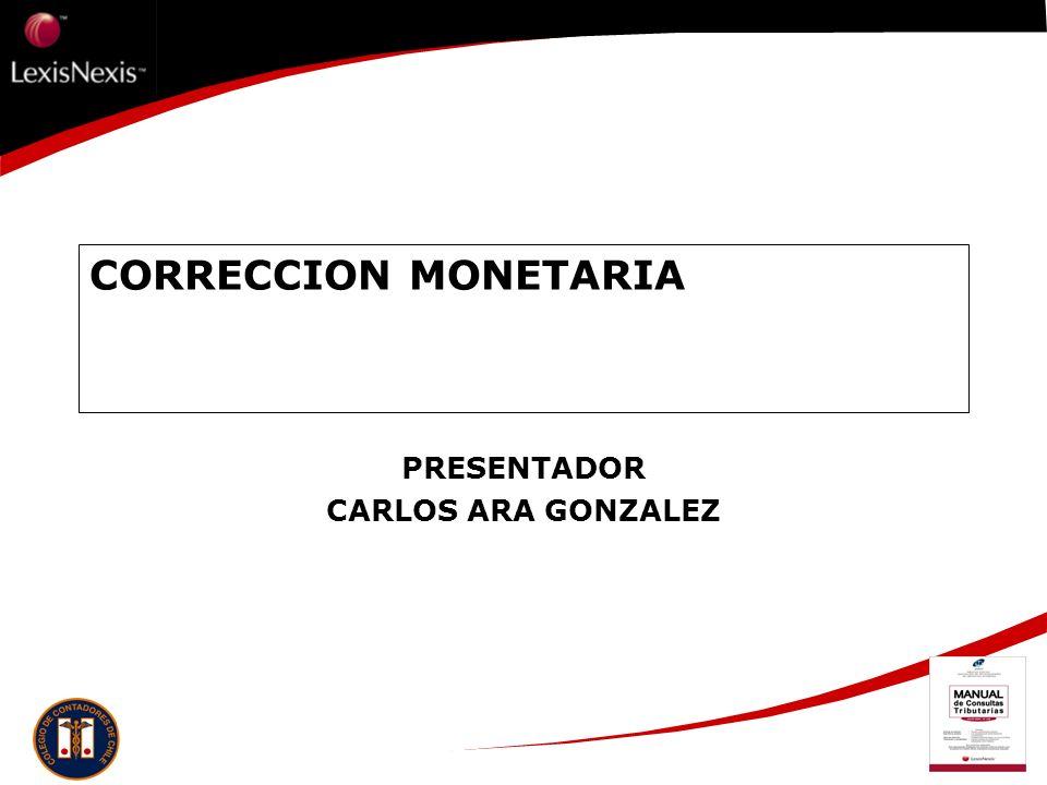 CORRECCION MONETARIA PRESENTADOR CARLOS ARA GONZALEZ