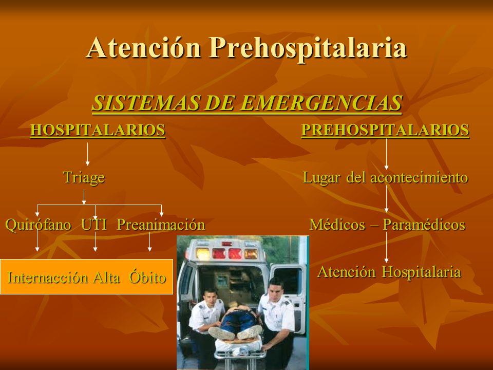 Atención Prehospitalaria SISTEMAS DE EMERGENCIAS HOSPITALARIOSPREHOSPITALARIOS HOSPITALARIOSPREHOSPITALARIOS Triage Lugar del acontecimiento Triage Lu