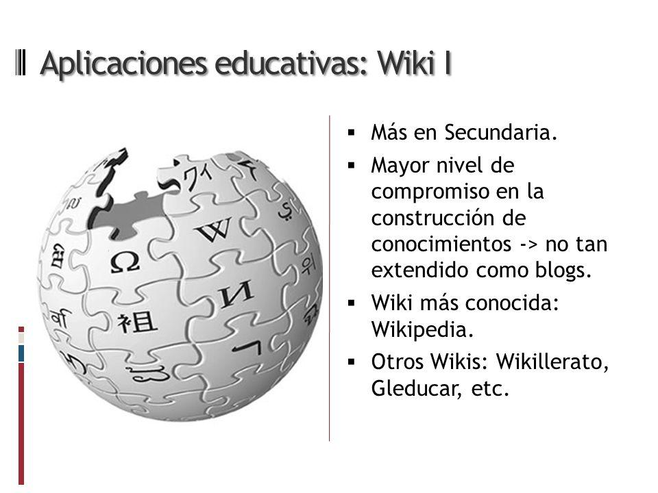 Aplicaciones educativas: Wiki I Más en Secundaria.