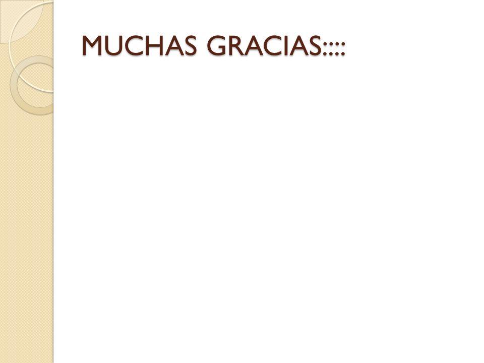 MUCHAS GRACIAS::::
