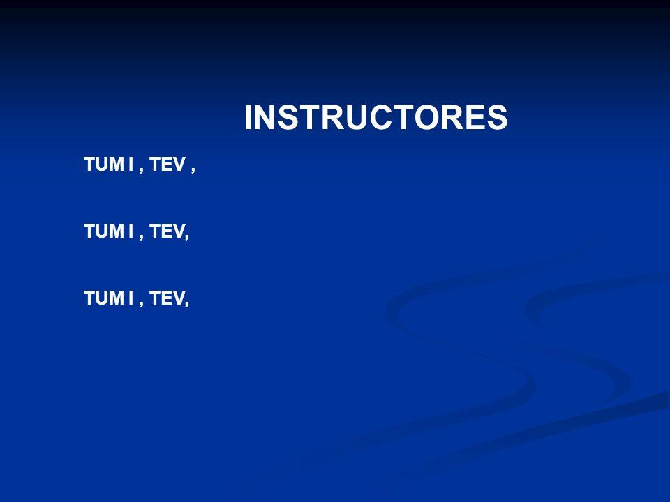 INSTRUCTORES TUM I, TEV,