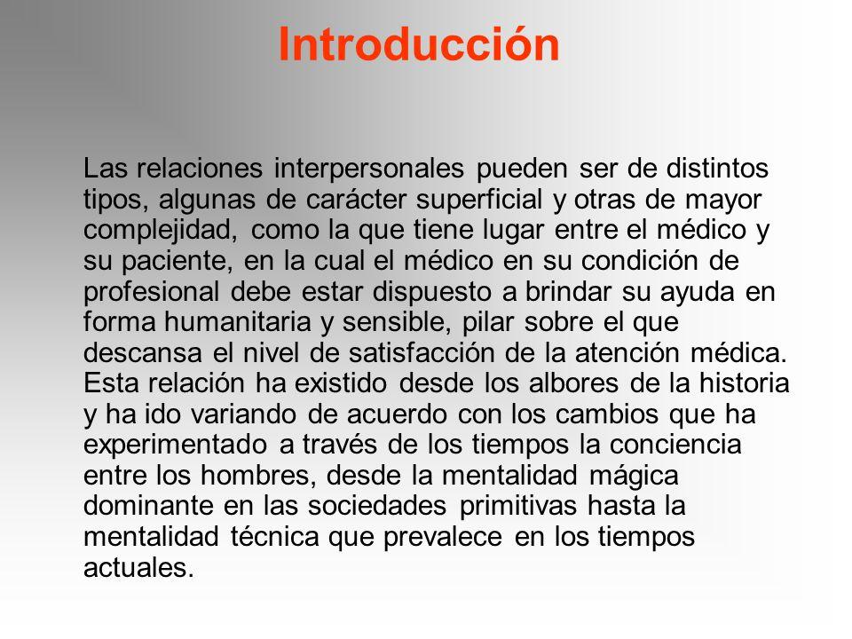 Introducción Las relaciones interpersonales pueden ser de distintos tipos, algunas de carácter superficial y otras de mayor complejidad, como la que t