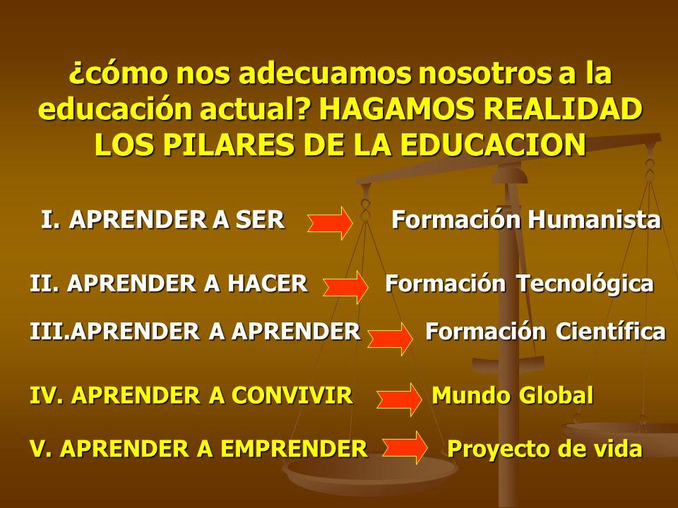¿cómo nos adecuamos nosotros a la educación actual.