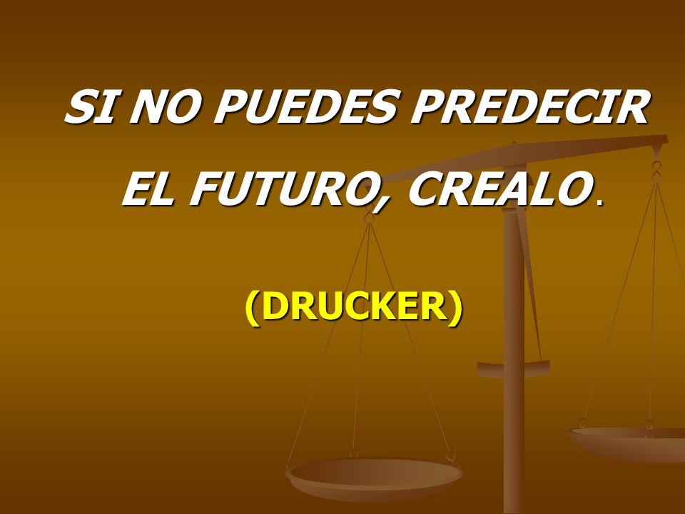 SI NO PUEDES PREDECIR EL FUTURO, CREALO. EL FUTURO, CREALO.(DRUCKER)