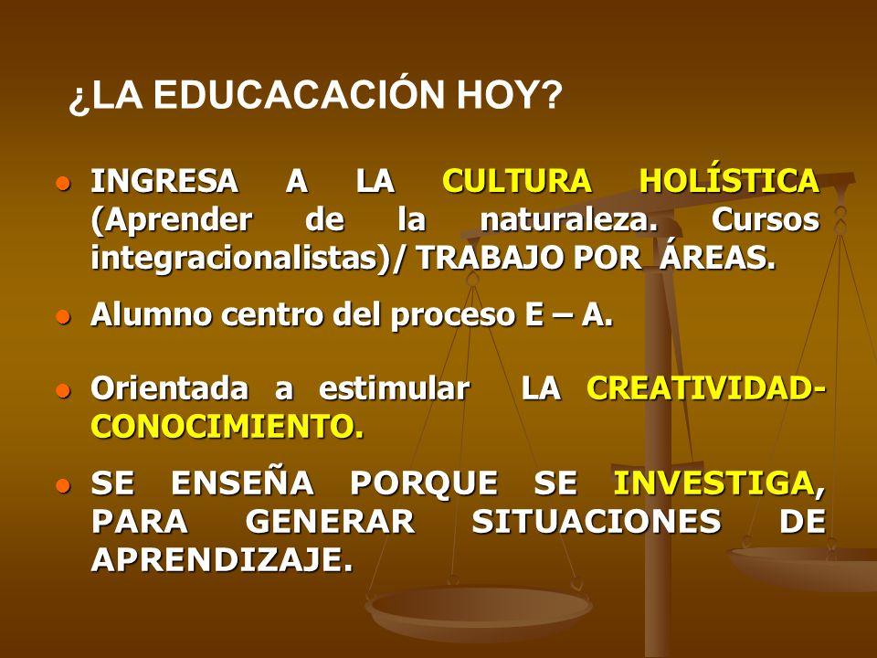 INGRESA A LA CULTURA HOLÍSTICA (Aprender de la naturaleza.
