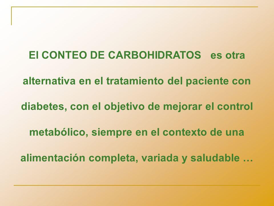 Que la insulinoterapia intensificada y el conteo de hidratos de carbono no se conviertan en un mero cálculo matemático que perturbe a todos y no mejore la calidad de vida del paciente