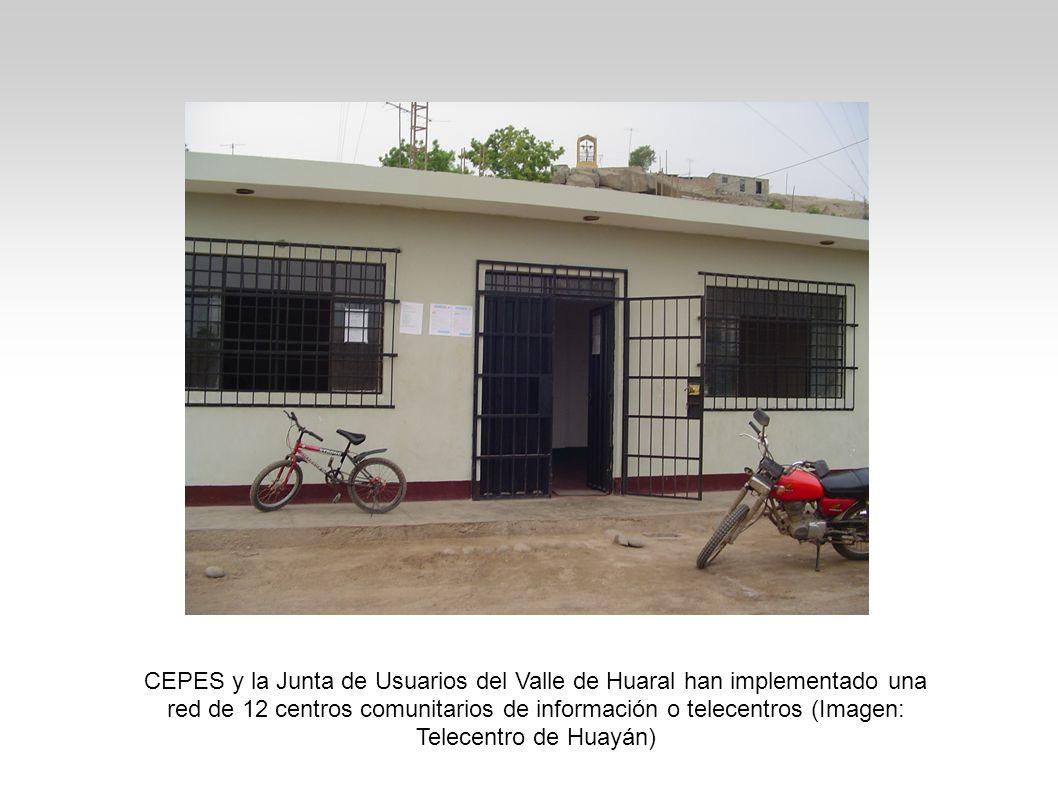 CEPES y la Junta de Usuarios del Valle de Huaral han implementado una red de 12 centros comunitarios de información o telecentros (Imagen: Telecentro