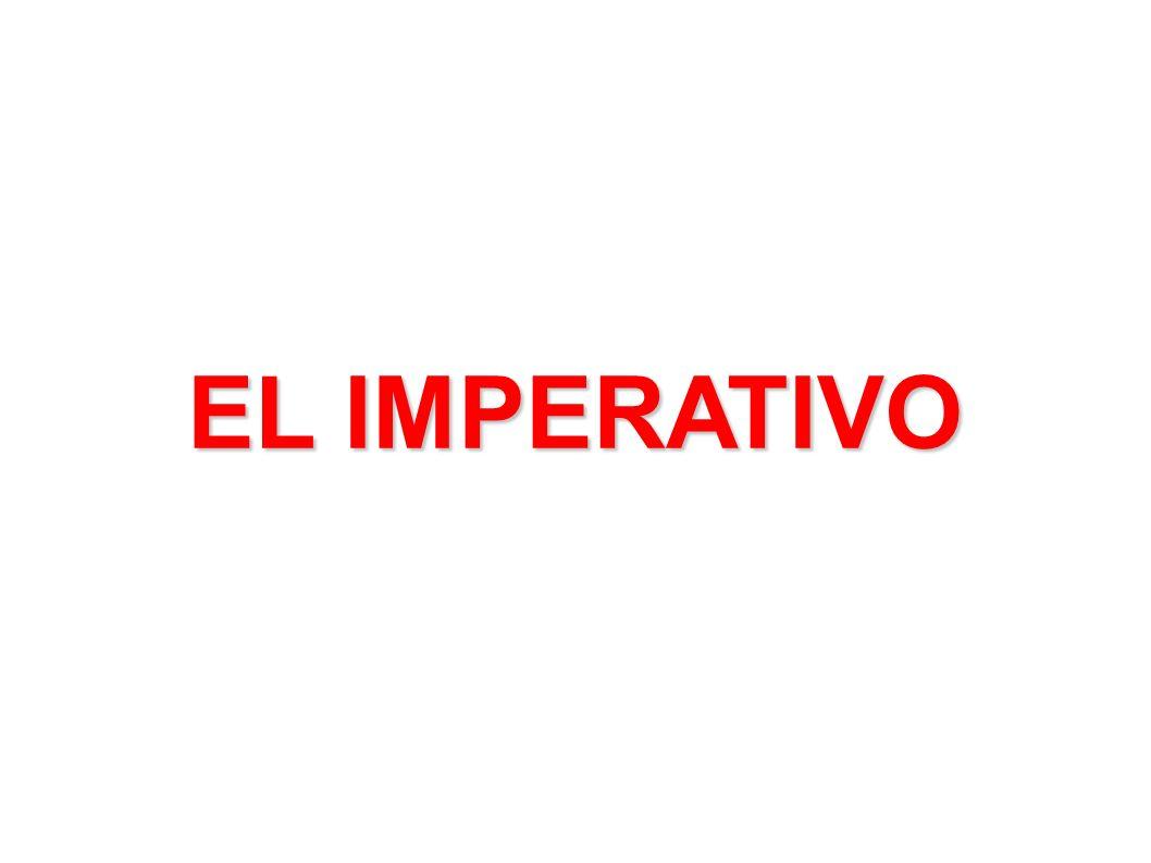 EL IMPERATIVO