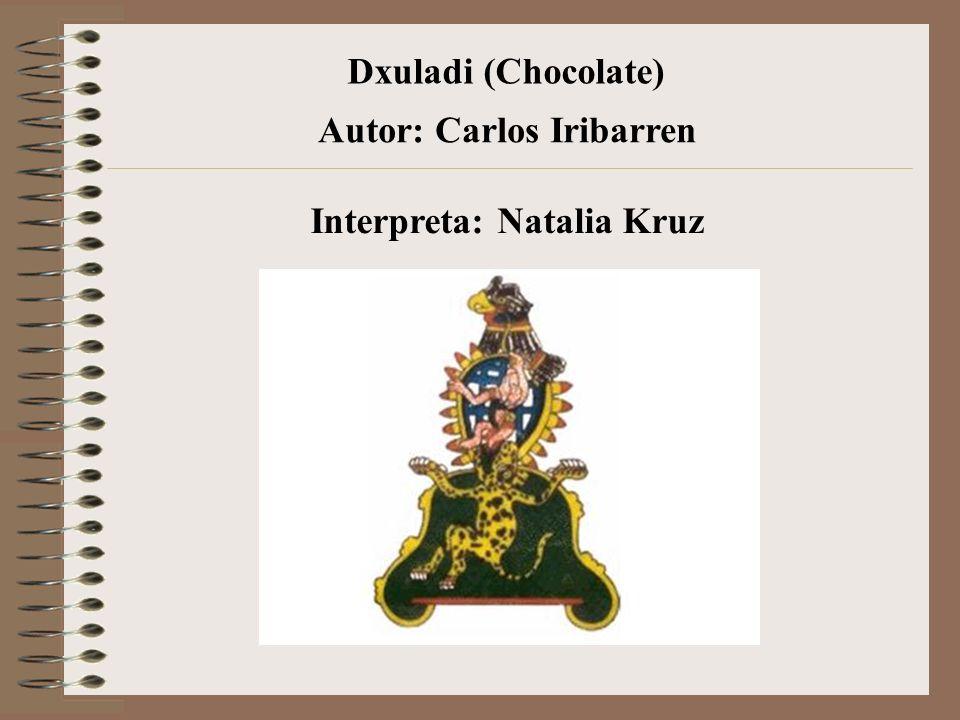 Dxuladi (Chocolate) Interpreta: Natalia Kruz Autor: Carlos Iribarren