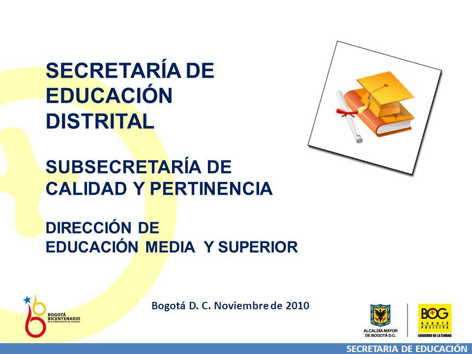 SECRETARIA DE EDUCACIÓN Bogotá D. C.